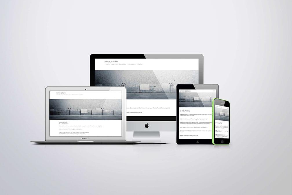 Diseño web mínima y logotipo