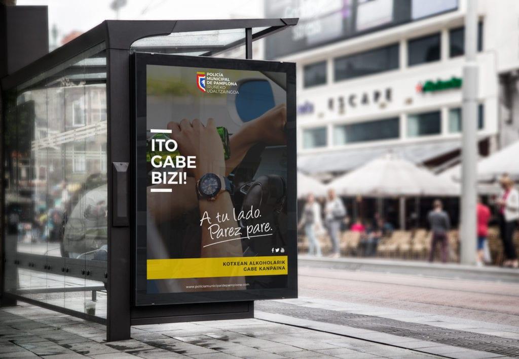 campaña de publicidad para el ayuntamiento de pamplona realziada por la factoria grafica
