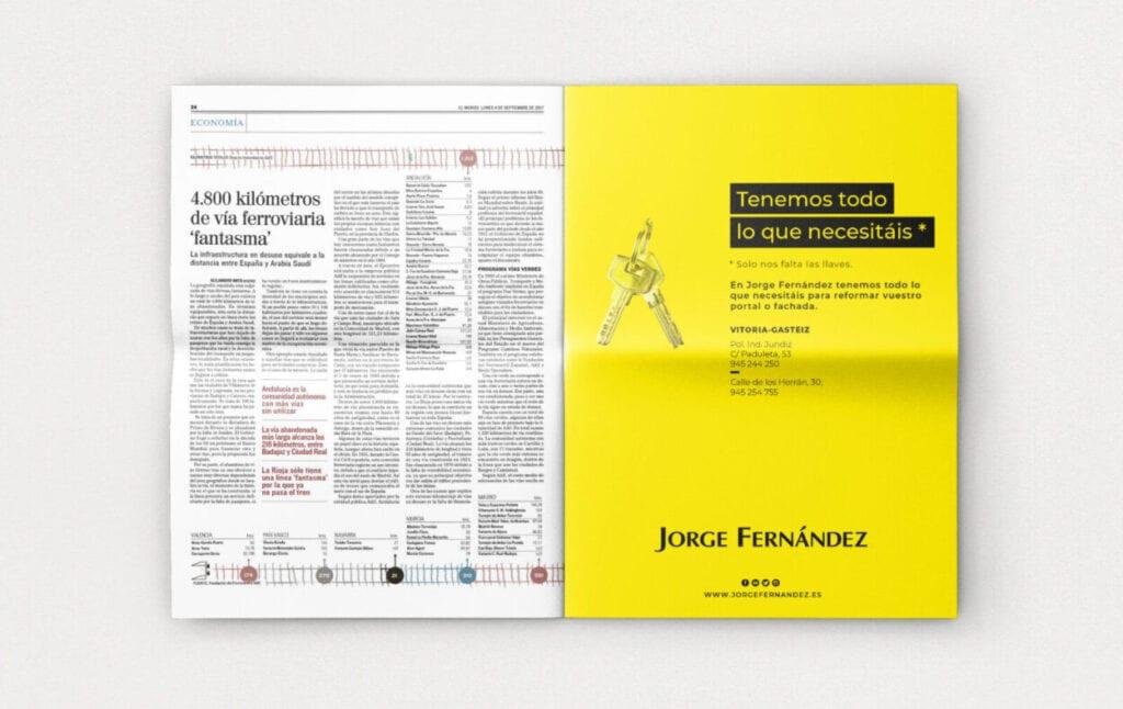 diseño y maquetación anuncio prensa vitoria la factoria grafica