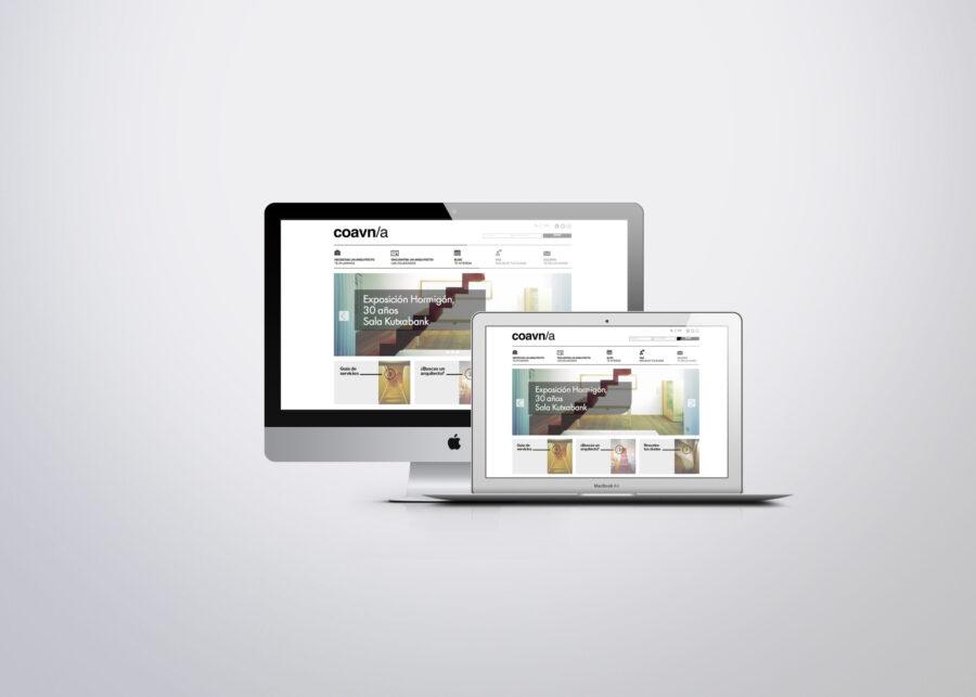 diseño de paginas web en vitoria, diseño de site para el colegio oficial de arquitectos en alava realizado por la agencia de publicidad la factoria grafica