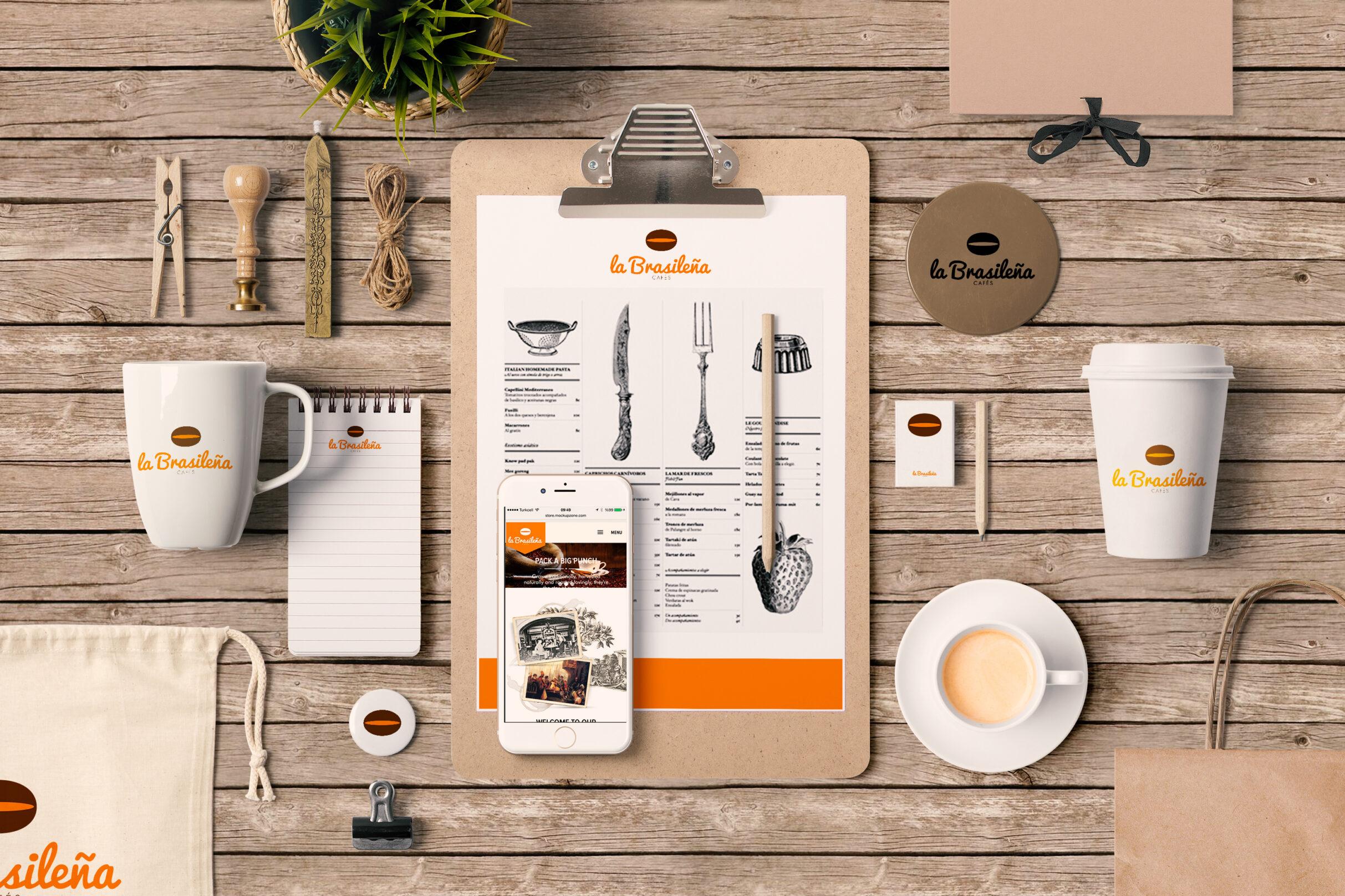 restyling de logotipo cafes la brasileña, estudio de diseño grafico en vitoria la factoria grafica