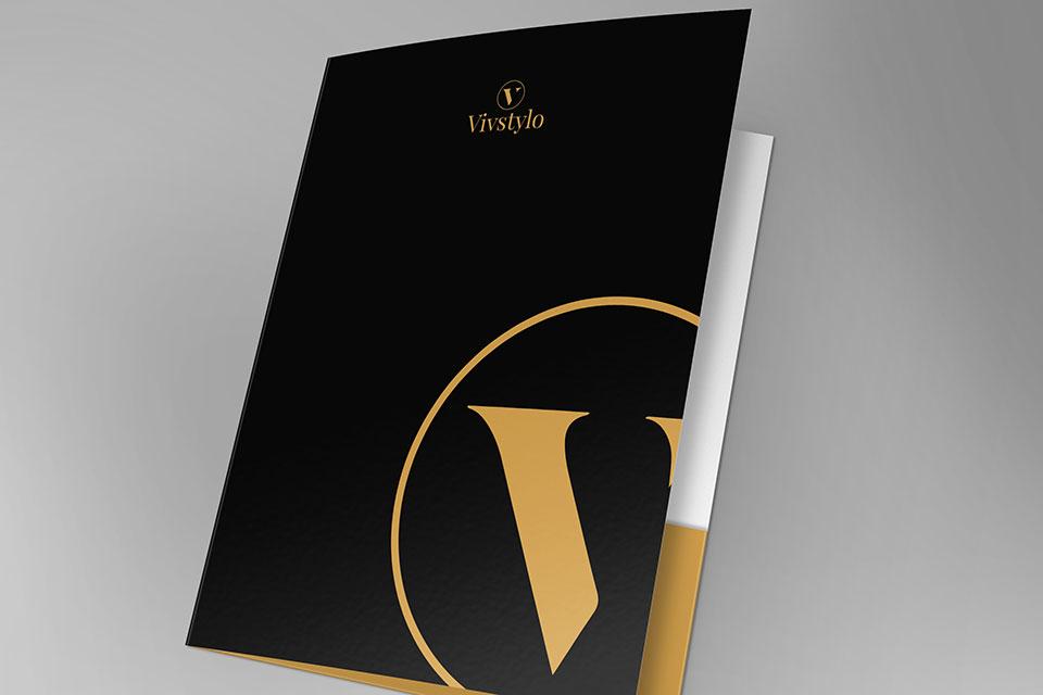 diseño de carpetas para empresa de productos gourmet realizado por la agencia de publicidad de vitoria la factoria grafica