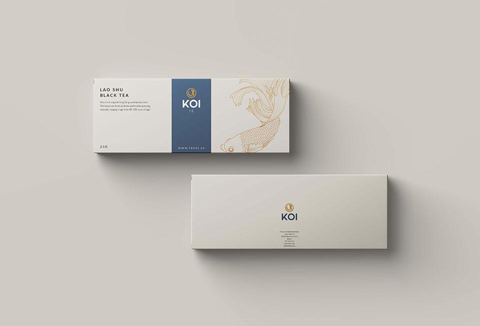 diseño de packaging para marca de té gourmet desarrollado por la factoria grafica en vitoria
